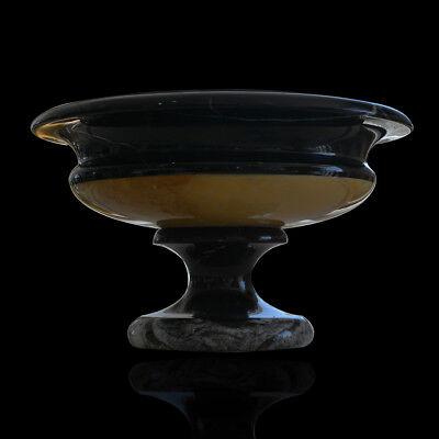 Diligent Ciotola Vaso Marmo Nero Marquina Con Piede Black Marble Bowl Old Vase D.26cm Elegant Shape