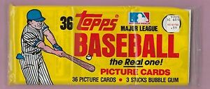 1982-Topps-Baseball-Grocery-Pack-3-small-cellos-sealed-Yellow