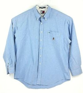 56e919ad Tommy Hilfiger Blue Long Sleeve Button Down Shirt Men's Size L | eBay