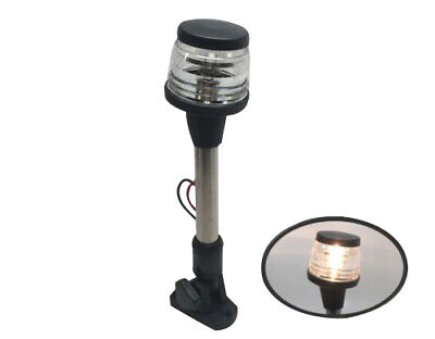 PACTRADE MARINE BOAT PONTOON FOLDING DOWN ALL ROUND ANCHOR 12V LIGHT SS 304 POLE
