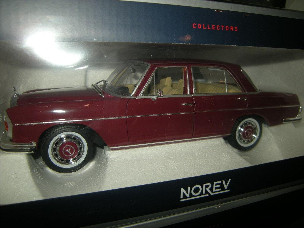 1 18 NOREV Mercedes-Benz 280 se 1968 Dark rosso Rosso scuro n. 183431 IN SCATOLA ORIGINALE