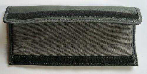 Gurtpolster Polster Gurtschoner grau echtes Leder für Gurte oder Kindersitze