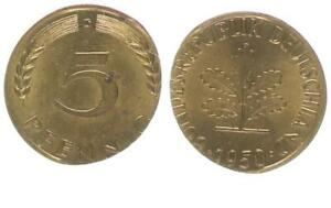 Rfa 5 Peniques 1950G De Fremdem Schrötling 56103