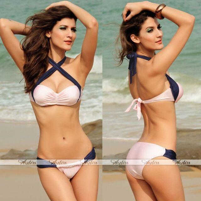 Sexy Womens Front Cross Strap Bikini Set Swimsuit Beach Bathing Swimwear Hot