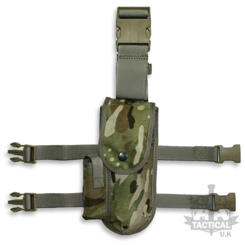 MULTICAM DROP LEG BROWNING PISTOL HOLSTER BRITISH ARMY MILITARY MTP