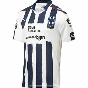 Puma C.F. Monterrey 2016 - 2017 Home Soccer Jersey Brand New White ... af4c2349f3a56