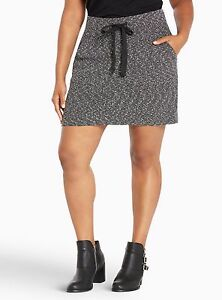 47773f70990 Torrid Knit Drawstring Mini Skirt Black 00X Med Large 10 00  89623 ...