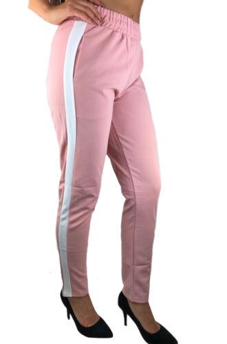 Da Donna Estate Tessuto Pantaloni Chino leggermente Strisce Casual blogger PANTS blogger
