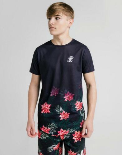 New ILLUSIVE LONDON Boys' Floral Fade Short Sleeve T-Shirt