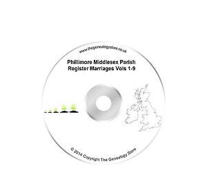 Phillimore Middlesex Paroisse Registre Mariages Vols 1-9-afficher Le Titre D'origine 65pttxrg-07180848-148022838