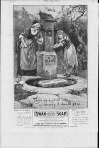 1901-Antique-Print-ADVERTISING-Swan-Soap-White-Floating-Hand-Pump-268