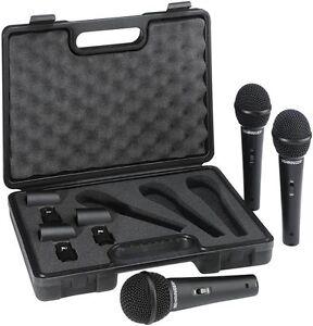 BEHRINGER-ULTRAVOICE-XM1800S-3-PACK-Kit-3-microfoni-dinamici-con-valigetta-inclu