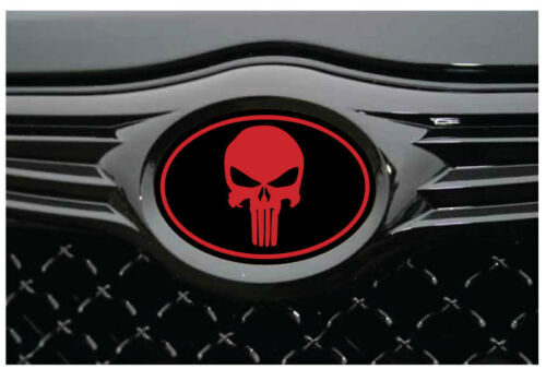 Chysler 300 C 2005-2010 Overlay STICKERS-DECALS Punisher Black//Red 3PC Kit!