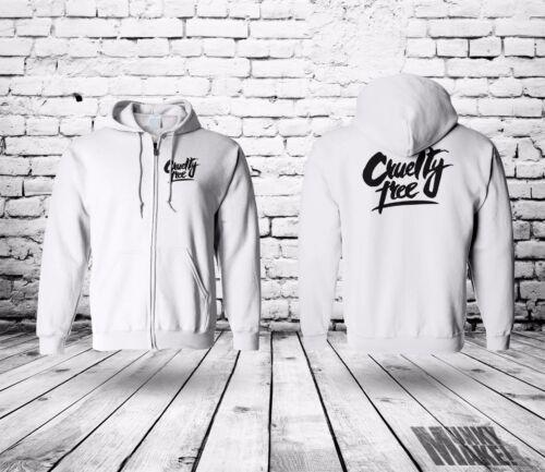 CRUELTY FREE zip hoodie UNISEX animal rights protest vegan against testing