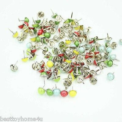 12.5mm 12/24/48/96pcs PEARL BRADS Scrapbooking Card Making wedding Craft