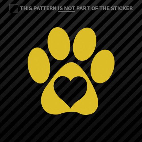 Love Paw Sticker Self Adhesive Vinyl with heart 2x