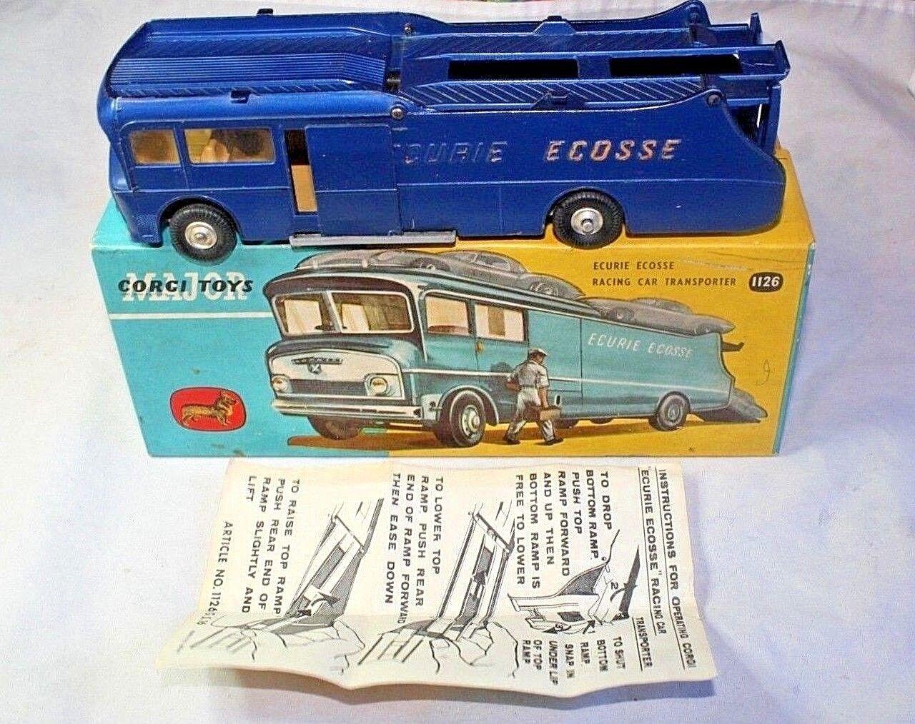 Corgi 1126 Ecurie Ecosse Transporter, Excellent Condition in Good Original Box