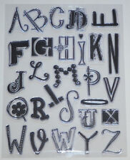 """NEW  ~  Prima Clear Stamps 1"""" ~  3"""" Uppercase Alphabet's  Timbres Transparents"""