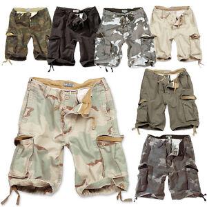 VINTAGE-Herren-SHORTS-CARGO-SHORT-kurze-HOSE-Bermuda-Army-Military