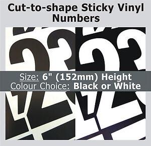 21 x numéros collant 15.2cm- étiquettes autocollantes- PLASTIQUE VINYLE vAjDrRsY-07135322-101865807