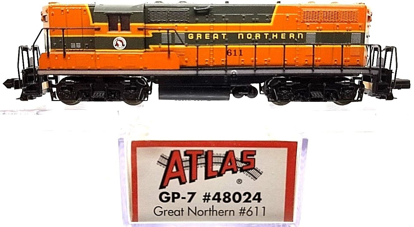 N ATLAS 48024 48024 48024 GP-7 Great Northern Locomotive  611 (Tested) 33e78f