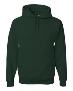 Jerzees Mens Navy Adult Full-Zip Hooded Sweatshirt,