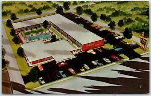 Pikesville-Maryland-Postcard-HOLIDAY-INN-NORTHWEST-Motel-Artist-039-s-View-c1960s