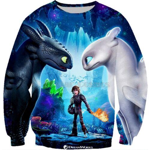 How to Train Your Dragon Men Women 3D Print Casual T Shirt //Hoodies//Sweatshirts