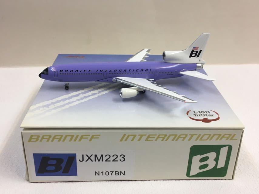 Jet-x 1 400 Braniff Internacional TriEstrella L-1011 púrpura Jellybean JXM223 N107BN