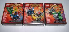 Lego Marvel Mighty Micros Spider-Man Green Goblin Captain America Red Skull Hulk