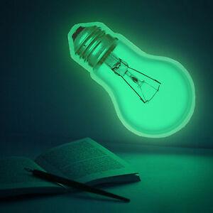 Light Bulb Sticker 30cm Glow In The Dark Wall Mural Decal Ebay