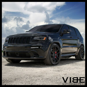 22 Velgen Vmb5 Black Concave Wheels Rims Fits Jeep Grand Cherokee Ebay