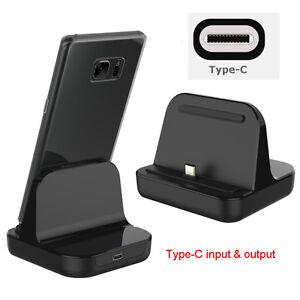 type c dock charger charging desktop usb c 3 1 cradle station for android phone ebay. Black Bedroom Furniture Sets. Home Design Ideas