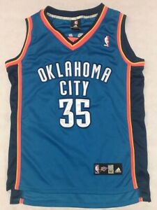the latest b9073 26a4f Details about Adidas NBA Oklahoma City Thunder OKC Kevin Durant #35 Blue  Jersey Size 52