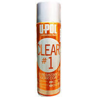 Upol CLEAR#1 High Gloss Clearcoat 450ml Aerosol Lacquer/Headlight Repair Coating