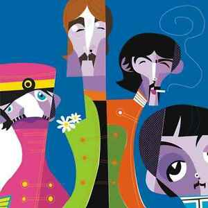 Wall mural art beatles picasso large repositionable vinyl for Beatles wall mural