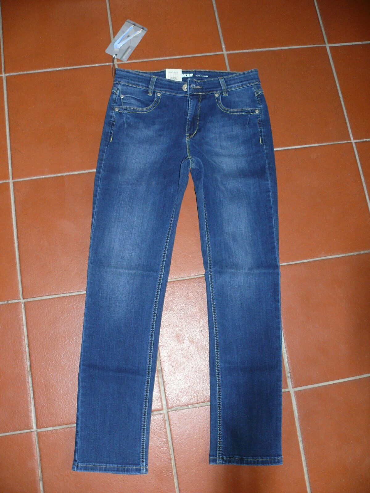 JOKER Röhrenjeans Jeans MARLENY straight leg 4738 67 dunkelblue W31 L32 42 NEU