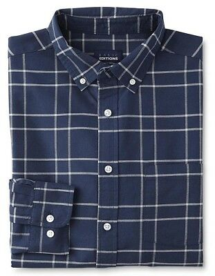 Basic Editions Men/'s Regular and Big /&Tall Oxford Dress Shirt Blue or green