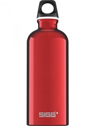 SIGG Water Bottle Traveller Red 0.6 l Outdoor Travel Portable Hiking Aluminium