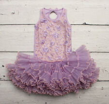OOH La La Couture Lavender & Pink Rose Tutu Dress sz 4