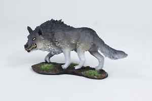Painted Miniature Dire Wolf Pathfinder Rpg DnD Reaper Bones