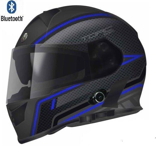 d06f16b1 TORC T14 Mako Bluetooth Full Face Dual Visor Motorcycle Helmet Flat ...
