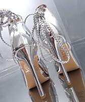 2017 HOHE LACK Silber Damen Luxus Sandalen Pumps Schuhe N62 Sexy High Heels 39