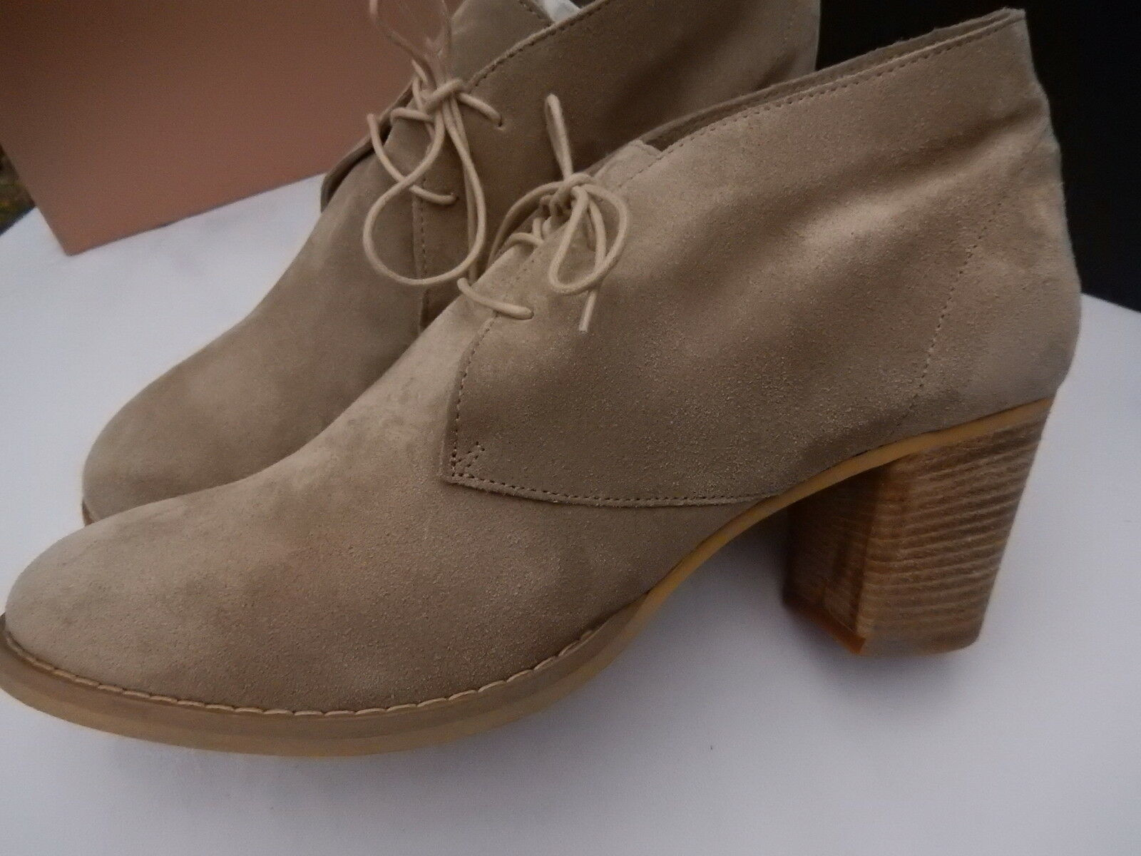 Carvela Beige Suede Women's ankle boots New Boxed Italian leather