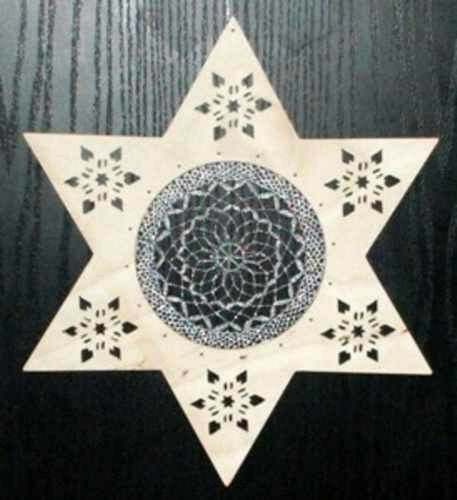 8653159//S Klöppeln Klöppelbrief Stern mit Innenkreis  und Rahmen Klöppelset