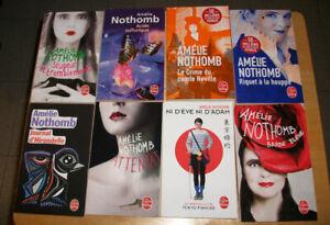 Lot de 8 livres de Amélie Nothomb