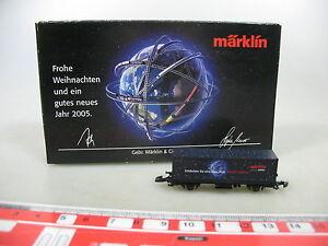AK779-0-5-Maerklin-mini-club-Spur-Z-DC-Containerwagen-Weihnachten-2005-NEUW-OVP