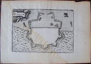 Carte De Toulon . Par Tassin. Carte Originale De 1633. Dimensions De La Feuille