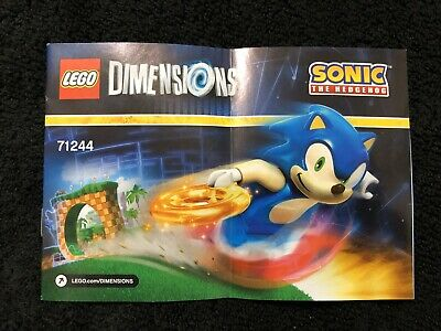 Lego Dimensions Sonic The Hedgehog 71244 Booklet Only Ebay