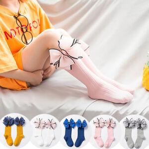GX-Baby-Kids-Girls-Socks-Lovely-Bowknot-Cotton-Knee-High-Socks-Stockings-Eyefu